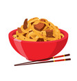 japanese chinese noodles ramen foodasian noodle vector image vector image