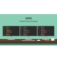 JAVA programming language code vector image vector image