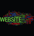 lessons learned from a website design gone wrong vector image vector image