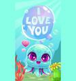 little cute cartoon baoctopus vector image vector image