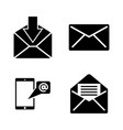 mail simple related icons vector image vector image