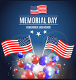 memorial day background template vector image vector image
