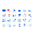 modern flat design icons vector image