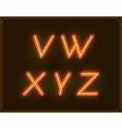 Neon Italic Font Type Alphabet Glowing in vector image vector image