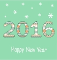 New Year 2016 Decoration vector image vector image