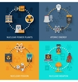 Nuclear energy 4 flat icons composition vector image vector image