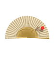 opened japanese fan vector image