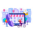 order and delivery of goods online from the vector image