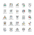 pack of business management flat icons vector image vector image