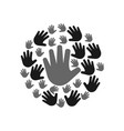 palm hand icon design template vector image vector image