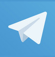 paper aircraft logo on blue background vector image vector image