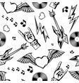 rock and roll music seamless pattern vector image
