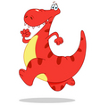 running dinosaur vector image