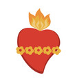 sacred heart cartoon vector image vector image