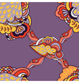 seamless abstract pattern with elements of fantasy vector image