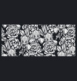 seamless pattern with flowers for black background vector image vector image