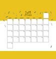 september 2019 wall calendar doodle style vector image vector image