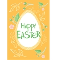 Set of Brochure Flyer Layout Easter vector image vector image