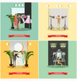 set of podium concept posters in flat style vector image vector image
