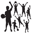 silhouettes boy vector image