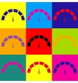 Speedometer sign Pop-art style icons set vector image vector image