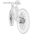 sport road bike bicycle created of vector image vector image