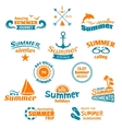 Summer element label vector image vector image