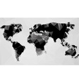 Triangle world map vector image vector image