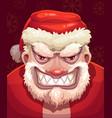 very bad santa face vector image