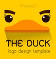 female duck flat logo vector image