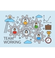 Teamwork and collaboration business concept vector image