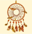 Ethnic dream catcher with feathers vector image