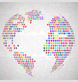 abstract globe earth from colorful dots vector image vector image