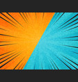 abstract sun burst contrast orange blue colors vector image vector image