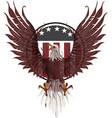 american eagle with usa flags image vector image vector image