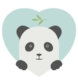 Animal set Portrait of a panda in love over heart vector image vector image