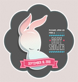 Baby shower invitation bunny vector image