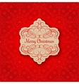 Background with Christmas Label Greeting Card vector image vector image