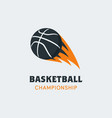 basketball player logo template creative sport vector image