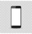 black realistic smartphone icon with isolated vector image