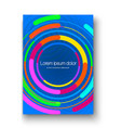 brochure layout with colorful circles colorful vector image