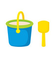bucket and spade isolated vector image vector image