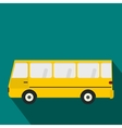 Bus icon in flat style vector image vector image