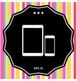 business phone and tablet with blank screens vector image vector image