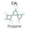C3H6 propene molecule vector image vector image