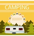 camping in forest banner vector image