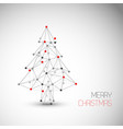 card with abstract christmas tree made from lines vector image