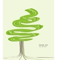 Card with abstracted stylized tree vector image vector image