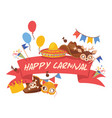 cartoon hat pattern comic cap for carnival vector image