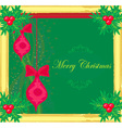 Christmas Framework style card vector image vector image